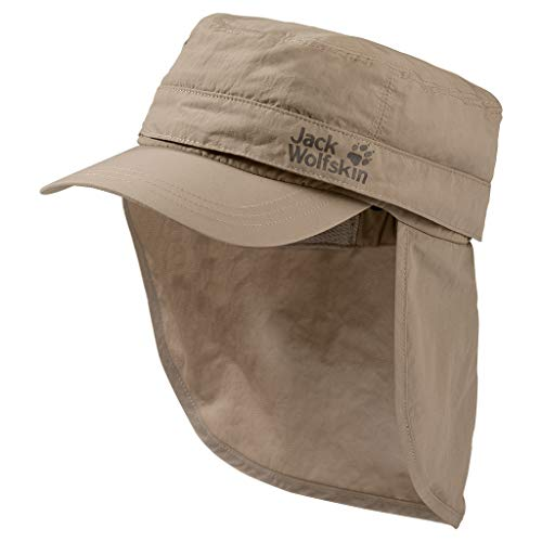 Jack Wolfskin Boys Lakeside Mosquito Cap Kid's Hat with Mosquito Protection Net, Sand Dune, Medium