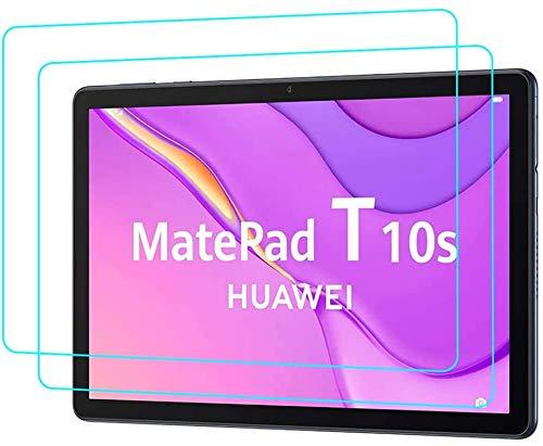 Aswant Pellicola Protettiva Per Huawei Matepad T10s/T10 Ultra Slim Pellicola Protettiva in Vetro Temperato Ultra Slim HD Per Huawei Tablet T 10 9.7 Pollici/Huawei T 10s 10.1 Pollici [2 pz]