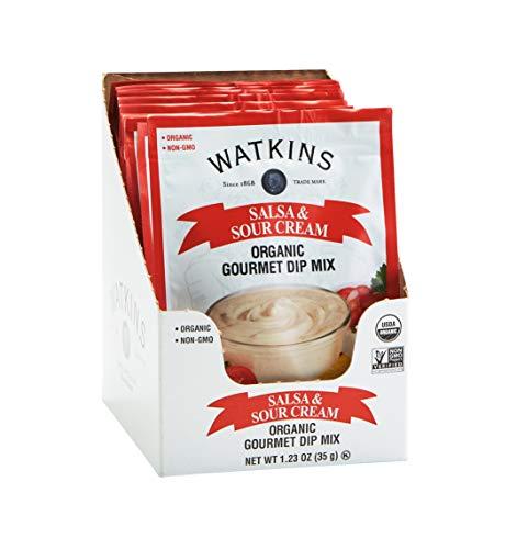 Watkins Organic Gourmet Dip Mix, Salsa & Sour Cream, 1.23 oz. Packets, 12-Pack
