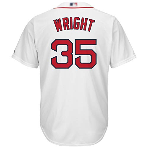 XXJJ Red Sx Wright - Camiseta de béisbol para hombre, color blanco