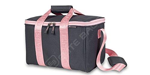 Botiquín de primeros auxilios MULTYS | Elite Bags | Color: gris y rosa | Maletín multiusos | 34 x 21 x 20 cm