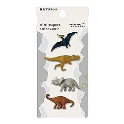 7. Midori Dinosaur Mini Magnets Set (4 pieces)