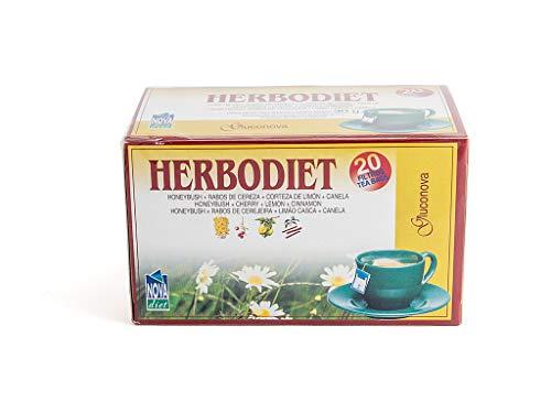 Novadiet Infusion Herbodiet Gluconova - 1 Paquete De 20 Filtros