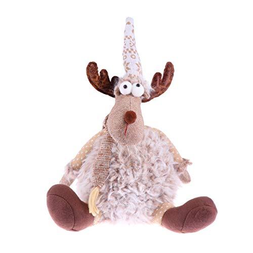 LIOOBO Weihnachten Elch Figuren weichen Elch Puppe Plüsch Elch Spielzeug Figur Weihnachten süße Puppe Dekor für zu Hause Weihnachtsfeier Kinder Geschenk