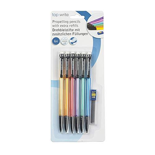 * Confezione da 6 matite di mine della marca Top Write
