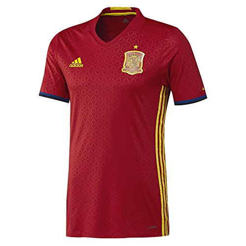 adidas Herren Trikot UEFA Euro 2016 Spanien Heim Authentic, Scarlet/Bright Yellow, L
