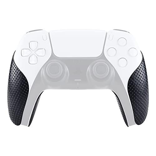 eXtremeRate PlayVital Pegatina para PS5 Aadhesivo de Silicona Antideslizante Piel de Goma para DualSense 5 Control Protector con Textura Pegatina de Agarre para Playstation 5 Mando(3D Cóncavo)