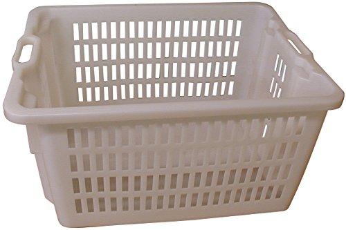 MOBIL PLASTIC S.P.A De pl/ástico Blanca Perforada Cesta para Pan apilable Ed apilable con Asas.