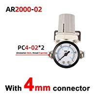 圧力調整器の空気 AR2000-2 AR3000-3空気圧調整器の圧力調整器圧力低減バルブ圧力ゲージ 燃圧レギュレーター (Color : Blue)