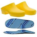 Zuecos sanitarios calzado Classic S sin agujeros con plantilla profesional CE – 40 – 41 – Amarillo