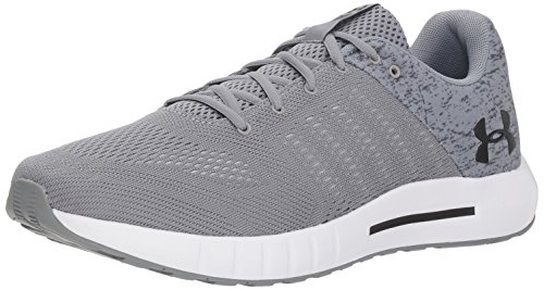 Under Armour Men's Micro G Pursuit Graphic Running Shoe, Steel (102)/White, 8.5