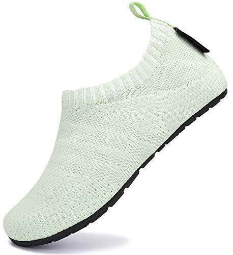 SAGUARO Zapatillas de Estar por Casa para Bebé Pantuflas Niños Zapatos de Interior Niñas Zapatos Infantiles Bebé Primeros Pasos Zapatos Cómodos Verde Gr.20/21