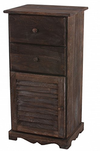 PEGANE Armoire à tiroirs Brun, Dim : 81 x 40 x 32 cm