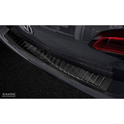 Avisa 2/45217 Zwart RVS Achterbumper Beschermer Volkswagen Golf VII Variant 2012-2017 'Ribs'
