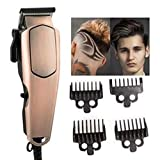 JAYVEER ENTERPRISE Salon Professional Electric Hair, Beard Trimmer And Clipper, Wired Trimmer,Oil Head Gradient Plug-in High-power Electric Gold Color Hair Clipper For Men,Women,Adults,Arms,Legs,Body,Face