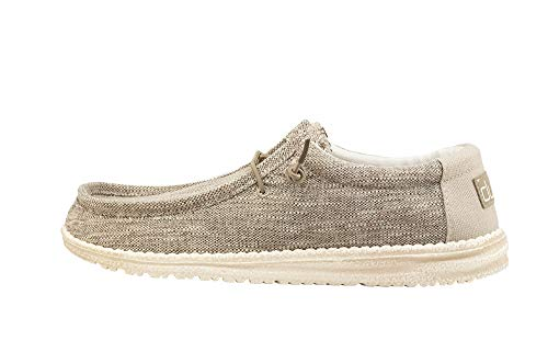 Hey Dude Men's Wally Woven Beige, Size 13