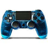PS4 Wireless Bluetooth Controller, Upgraded Version of Gamepad, with Touch Panel, Dual Vibration and Audio Functions, Non-Slip Design, Long-Lasting Enjoyment, Suitable for PS4/Pro/Slim/PC