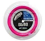Yonex BG80 Badminton-Saite 200 m Spule – Neon Pink