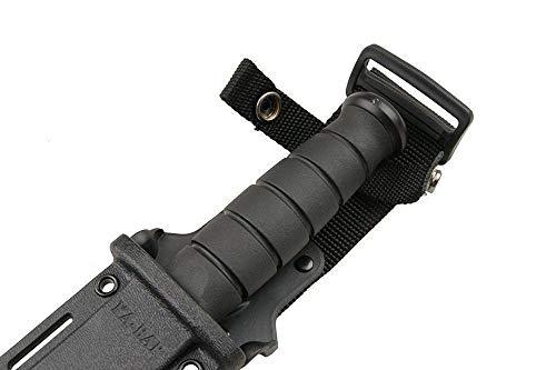 KA-BAR #1213 Black Straight Edge Knife / Hard Sheath