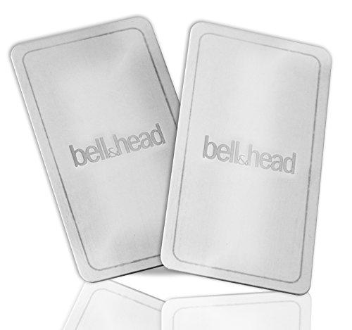 2er Set Metallplättchen LANG mit Klebefläche für KFZ Magnet-Handy-Halterung - Zusatz-Set oder Ersatz für Original Platten von bell & head oder anderen Anbietern (XXL: 7,5 x 4 cm)