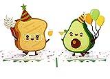 MOKIO® Pop-Up Karte – Avocado & Toast Party – 3D Geschenkkarte zum Geburtstag, als Gutschein oder für Geldgeschenke, lustige Klappkarte mit Umschlag