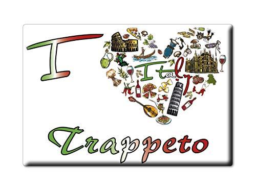 Enjoymagnets TRAPPETO CALAMITA Magnete Sicilia (PA) Italia Fridge Magnet Souvenir I Love (VAR. Symbol)