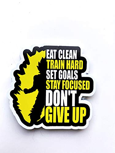 DKISEE 3 PC Dont Give Up Motivational Gym Pegatina Divertida Pegatina para Ordenador Portátil, Adhesivo de Vinilo, Mejor Amigo Regalo 4'
