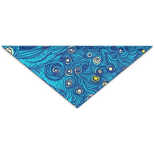 Emild Van Gogh's Sky Patroon huisdier sjaal hond kat Bandana halsbanden driehoek halsdoek