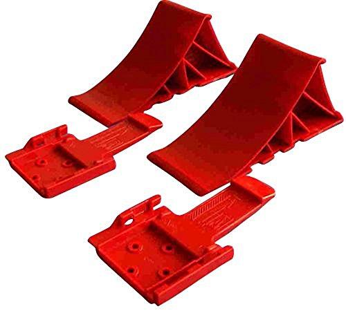 Timtina Komplett Set: Unterlegkeile incl. Halter 2 Stück- 1600 kg - Bremskeil Anhänger Keile bis 1.6t
