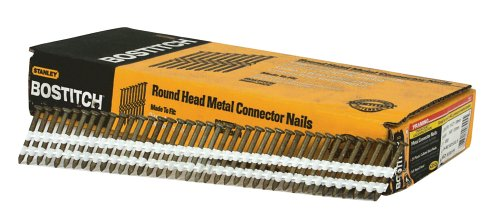 BOSTITCH Framing Nails, Plastic Collated, Metal Connector, Thickcoat Galvanized, Round Head, 21-Degree, 1-1/2-Inch x .148-Inch, 1000-Pack (RH-MC14815G-S)
