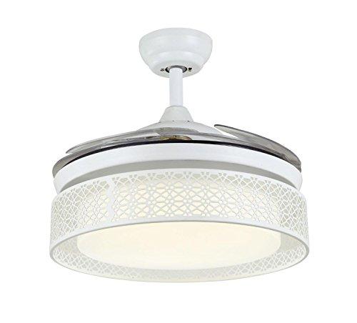 QMMCK Plafondventilator 42 inch 4 onzichtbare messen 30 W LED afzonderlijke lamp één afstand van drie snelheden kan direct zijn en inverse 1 jaar garantie
