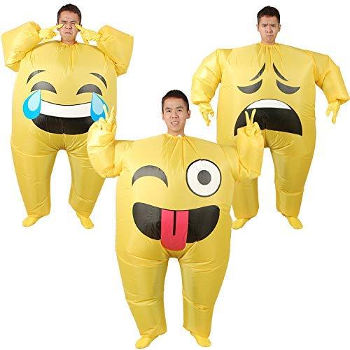 1yess Aufblasbare Kleidung Smiley Ausdruck Beutel, Karikatur Puppe Gasmodell, aufblasbare Kleidung 3 Kleidung