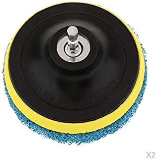 Fenteer 2xScrub Brush Pads 4'' Drill Power Brush Tile Scrubber Scouring Pads