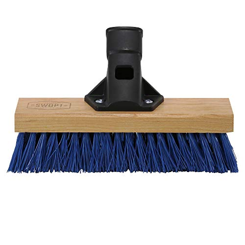 """SWOPT Standard Multi-Surface Angle Broom - 48"""" Steel Handle - Handle Interchangeable with Other SWOPT Products - Great for Indoor and Outdoor Applications -"""