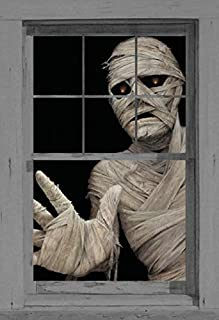 Window Poster Halloween by WOWindows USA-Made Mummy Decoration Includes 1 Reusable 34.5
