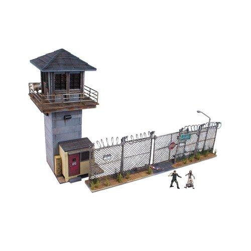 McFarlane Toys - Juegos de construcción - Torre y Puerta de la prisión de TV Walking Dead
