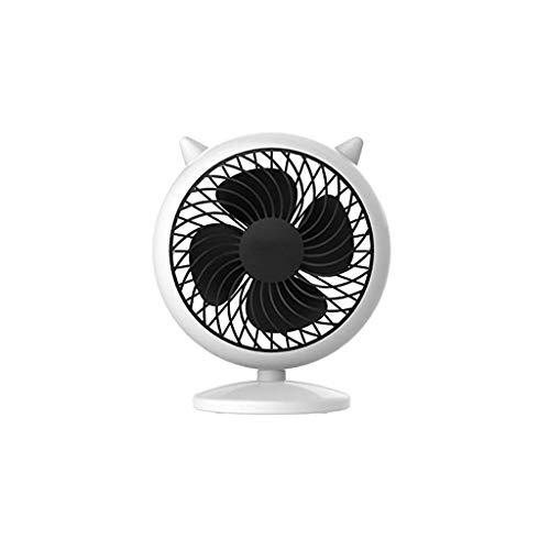 ECSWP Mini Ventilador eléctrico Mesa Ventilador Oficina Estudiante Escritorio Cama pequeño Ventilador, Blanco