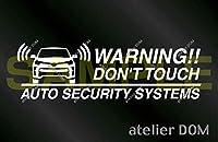 トヨタ C-HR GRスポーツ用 セキュリティーステッカー 3枚セット (外貼りタイプ)[受注生産]アトリエDOM CHR セキュリティ ステッカー