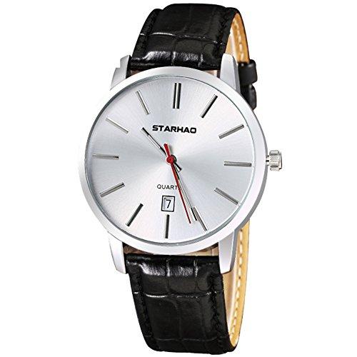 Orologio impermeabile per gli uomini, orologio al quarzo vintage, guarda gli amanti-D