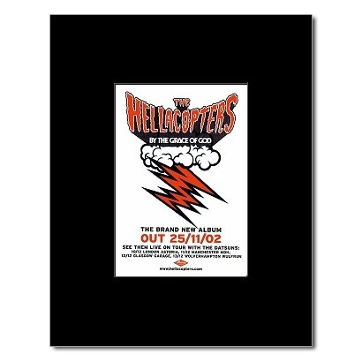 HELLACOPTERS - By The Grace of God Matted Mini Poster - 13.5x10cm