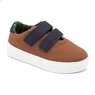 Roadwalker Two-Tone Faux Leather Velcro-Closure Sneakers for Kids