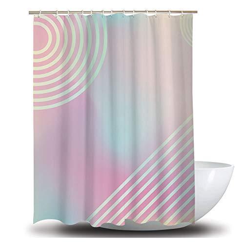 AOMEISI Anti-Schimmel-Duschvorhang Badezimmer 180x200 DuschvorhäNge Mit 12 WeißEn Kunststoffhaken, WasserkräUselung