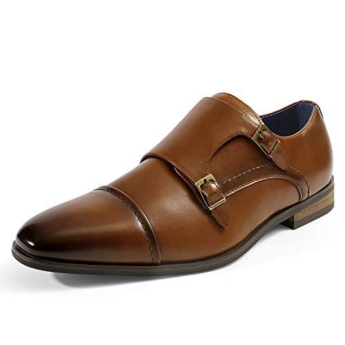 Bruno Marc Men's Dress Loafer Shoes Monk Strap Slip On Loafers Camel Size 11 M US Hutchingson_2