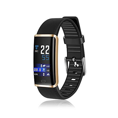 AMTSKR Fitness Tracker Horloge, Kleur Scherm Smart Armband Sport Waterdichte Armband, Activiteit Tracker Bloeddrukmeter met Hartslagmeter