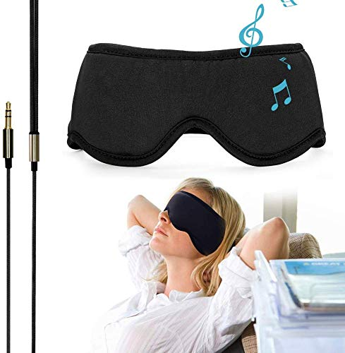 Sleepace Sleep Headphones, Comfortable Washable Eye Mask with Built-in Earphone for Sleeping, Perfect for Air Travel, Relaxation, Meditation, Insomnia, Side Sleep M(21.65'~22.44')