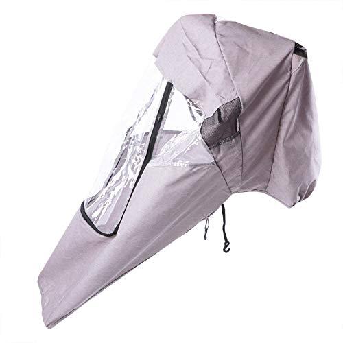 Funda para lluvia para cochecito, práctica funda para lluvia para cochecito de bebé, conveniente universal para cochecito de bebé(Linen gray warm rain cover)
