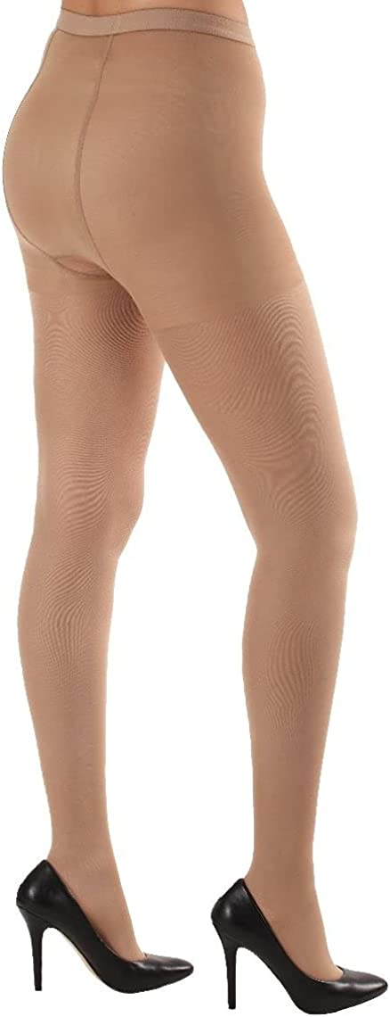Absolute Support Microfiber Opaque Compression Pantyhose - Firm Support 20-30mmHg – Closed Toe