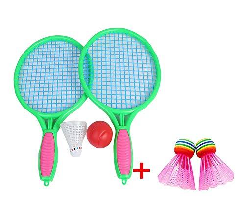 Black Temptation Une Paire de Bleu Enfants en Plein air Jouet de Badminton Parent Enfant Jouant Offre