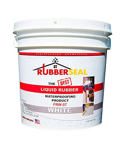 Rubberseal Liquid Rubber Waterproofing and Protective Coating - Roll On White (1 Gallon, White)