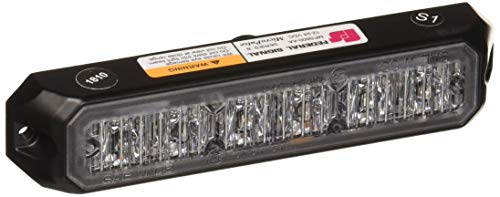 Federal Signal MPS600-AA MicroPulse LED Exterior/Perimeter Light, Class 1, Surface Mount, Clear Lens with Amber LEDs